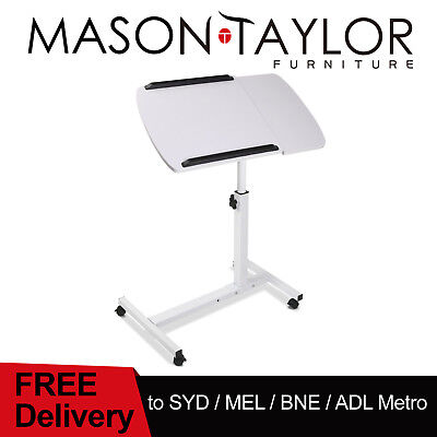 Mason Taylor Rotating Mobile Laptop Desk Adjustable Notebook Stand Bedside Table