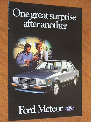 1983 Ford Meteor original Australian 8 page brochure