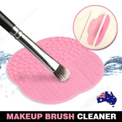 Makeup Brush Cleaner Washing Silicone Scrubber Board Cleaning Mat Pad RYO