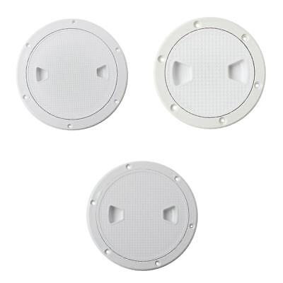 """3pcs Marine Boat RV White 4"""" 6"""" 8"""" Access Hatch Cover Screw Out Deck Plate"""