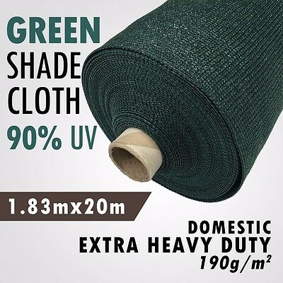 90% UV Green 1.83m x 20m Heavy Duty Shade Cloth Shadecloth Green