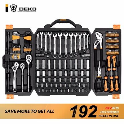 DEKO 255 Piece Tool Set General Household Hand Tool Kit with Tool Box