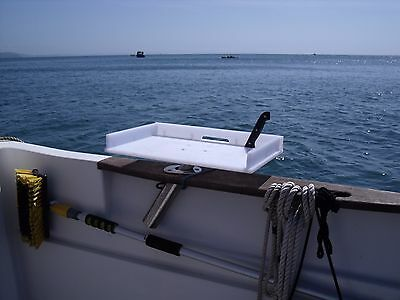 Boat Bait/Gut /Filleting /Multipurpose Table that fits into a Boat's Rod Holder