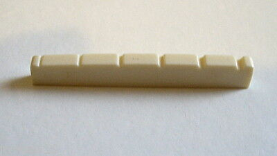 Acoustic Guitar Nut Cream-Coloured - 42mm x 3 x 6.1 to 5.4mm UK