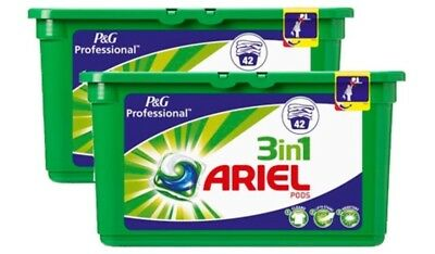 2 X 42 Pack Ariel 3 in 1 Liquitabs Washing Detergent Tablets Capsules Pod