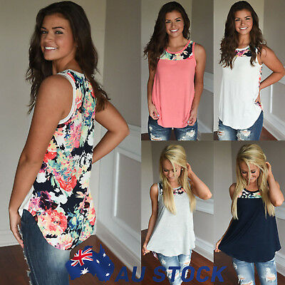 Womens Girls Sleeveless Casual Vest T-Shirt Summer Loose Tank Top Blouse Singlet