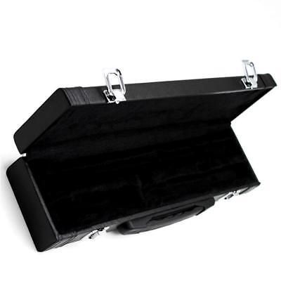 Portable High-grade Leather Gig Case Storage Box for Flute 39 x 9.5 x 6cm
