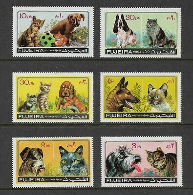 FUJEIRA - 1971 Cats & Dogs, No.1, set of 6