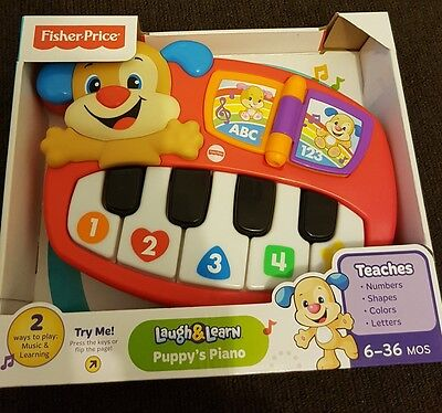 Fisher-Price Laugh & Learn Puppy's Piano - NEW