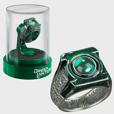 Green Lantern Power Ring Prop Replica. Die Cast with Display Case. Noble NN5941