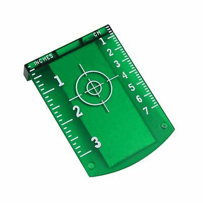 Target Card Plate Green Laser Level Lightweight Strong Magnetic Easily Adheres