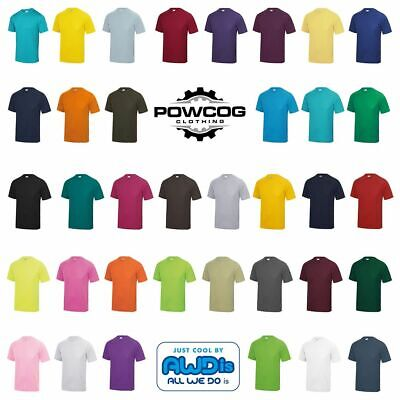 AWDis COOL SPORTS TOP • Breathable Running Gym Performance T Shirt • 36 COLOURS