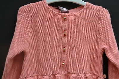 Ted Baker baby girl designer Sz 00 cardigan BNWT metallic thread evening party