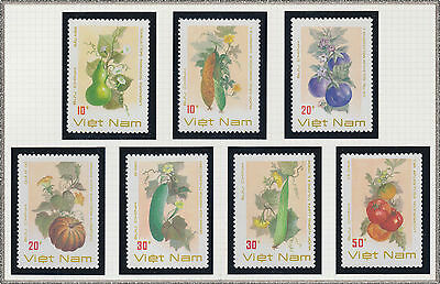 VIETNAM N°911/917** FRUITS & LEGUMES, 1988 Vietnam 1901-1907 Vegetables MNH