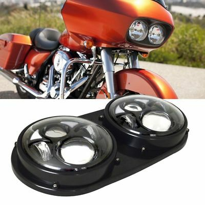 1Set5.75 Motorcycle Dual LED Light Bulb Headlight For Harley Day Harley Davidson