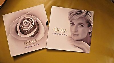 Uk Diana Princess Of Wales 5 Pound Memorial Coin