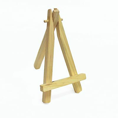 Wooden Mini Easel for Miniature Canvases, Signs, Photos Display Stand 12 x 7 cm