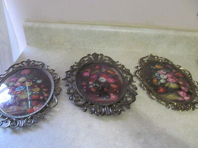 Home Interior / Homco Set Of 3 Vintage Roman Gardens Pictures / Plaques