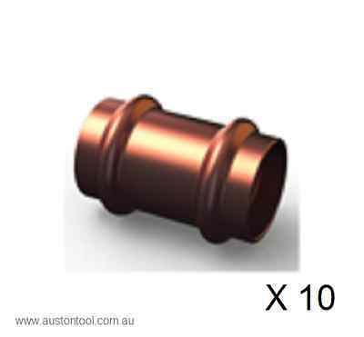 Press Fitting For Copper Pipe, Copper Slip Coupling, BAG OF 10