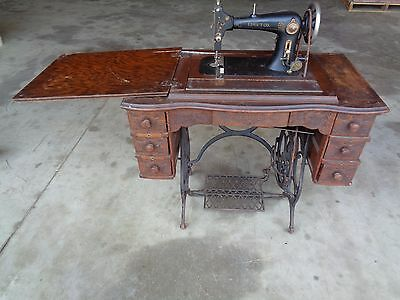 ANTIQUE LIMA T Co. TREADLE SEWING MACHINE