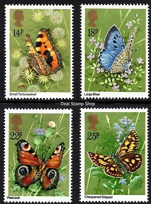 GB 1981 Butterflies SG1151-4 Complete Set Unmounted Mint
