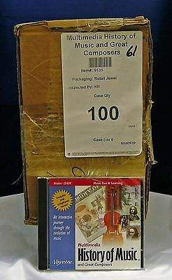 Multimedia History of Music&Great Composers by Voyetra PC CD 95/98/ME lot of 100