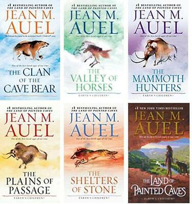 Earth's Children Complete 1-6 Jean Auel Clan Cave Bear,Mammoth Hunters+paperback