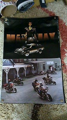 MEL GIBSON  MAD max man cave poolroom sign BIKER OUTLAW 3x2 ft print gift