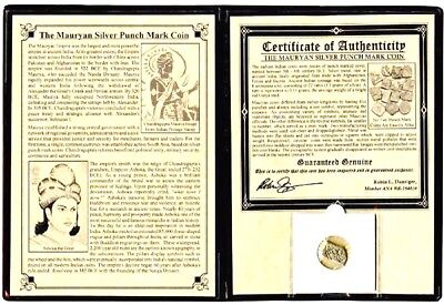 The Mauryan Silver Punch Mark Coin with Album and Certificate