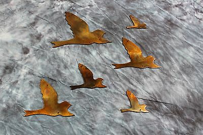 Flying Birds Copper/Bronze right facing  Metal Wall Decor
