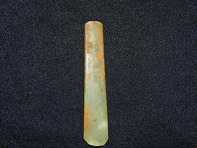 Pre-Columbian Jade Celt, Central America, Authentic