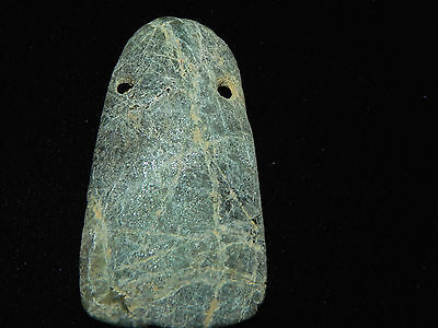 Pre-Columbian Jade Celt Pendant, Authentic, Costa Rica