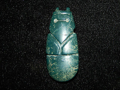 Pre-Columbian Blue Jade Ceremonial Avian Pendant, Authentic