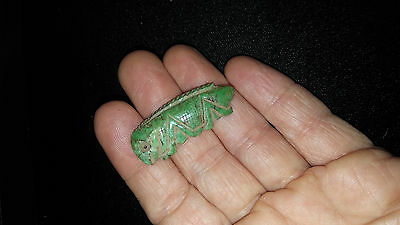 Carved Jade Pendant, Authentic Pre-Columbian Jade Grasshopper Pendant