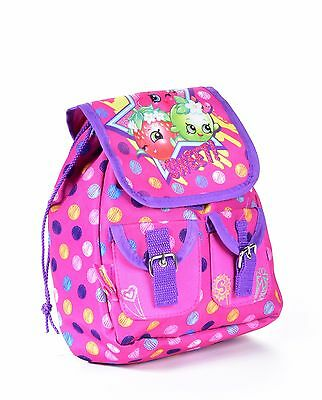 """Shopkins 9"""" Inch Girls Toddler Mini Backpack Pink Purple Deluxe Sweet! Sy28255"""