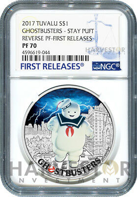 2017 Ghostbusters Coin Series - Stay Puft - Ngc Pf70 First Releases W/ogp
