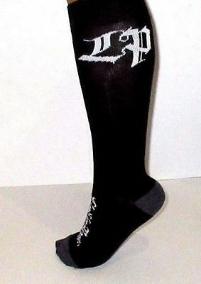 LINKIN PARK ROCK BAND BANDMERCH KNEE HI BLACK SOCKS 9-11 two pairs