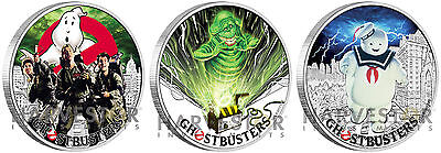 2017 Ghostbusters Coin Series - Complete 3-Coin Set - All Coins In Series - Ogp