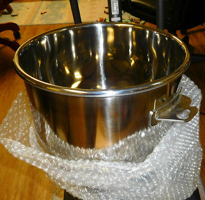 NIB Hobart Heavy Gage Stainless Steel 10 Quart Mixing Bowl 917724