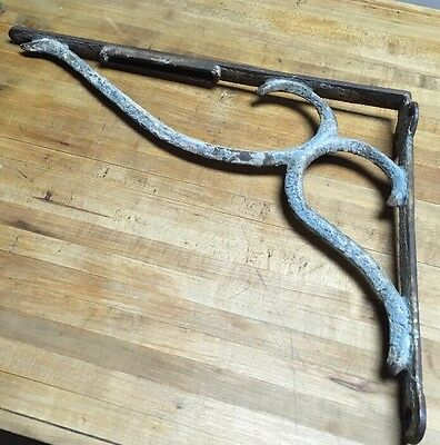Vintage Wrought Iron Corbel Shelf Bracket Architectual Decor