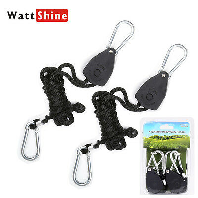 Heavy Duty Rope Ratchet Hanger Hook For LED Grow Light Carbon Filter Hydroponic