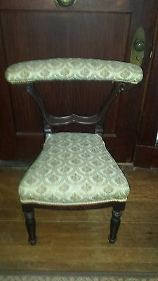 Antique Prayer Chair LATE 1800s turn of the century