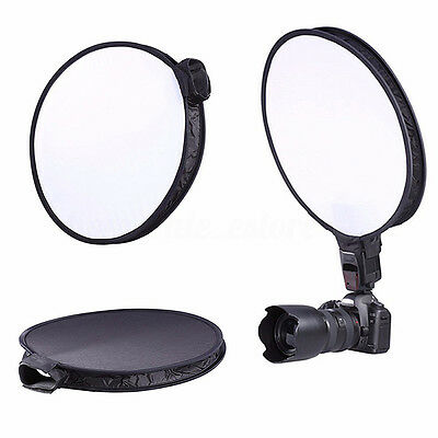 "15"" 40CM Round Disc Softbox Diffuser Flash for Flash Speedlite Speedlight New"