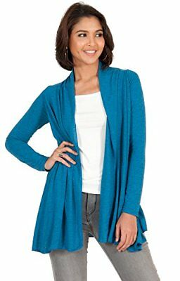 KOH KOH Womens Petite Long Sleeve Flowy Draped Comfortable Open Front Casual Loo