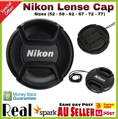 NEW NIKON Cap 52,58,62,67,72,77 mm Snap-on Replacement Lens Cap For Nikon