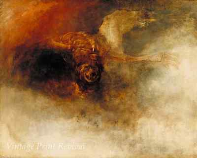Death on a Pale Horse by J M W Turner - Four Horseman End Times 8x10 Print 1182