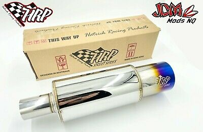 "3.5"" HKS Inspired Cannon Muffler (Polished/Burt Tip)"