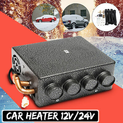 12/24V Universal Car Underdash Compact Heater + Speed Switch Defroster Demister