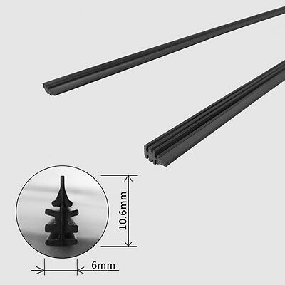 """2x Universal 26"""" 6mm Silicone Cut to Size Vehicle Replacement Wiper Blade Refill"""