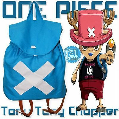 Anime One Piece Chopper Shoulder Backpack Cosplay School Book Bag Rucksack Pack